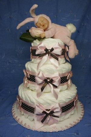 Торт с бантами