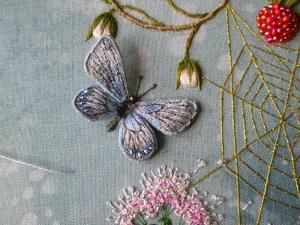 Объемная вышивка нитками