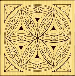 geometricheskaya_rezba_derevu Техника черчения рисунка для резьбы по дереву. Геометрическая резьба по дереву для начинающих