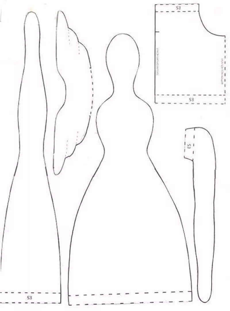 Выкройка куклы тильды