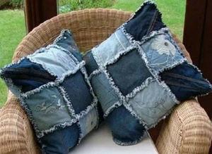Красивые подушки из старых тканей