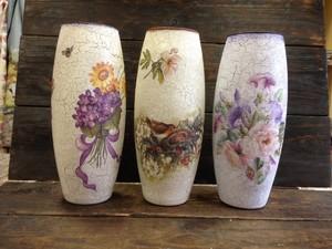 dekupazh_vazy Декупаж стеклянной вазы: мастер-класс и пошаговая инструкция, как за декорировать сосуд своими руками