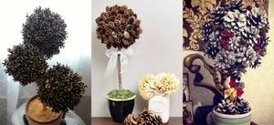 varianty_topiariev_shishek Топиарий из шишек: делаем дерево из осенних даров природы