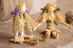 splesti_kuklu_solomy Поделки из соломы: плетение из соломки для начинающих, изделия своими руками