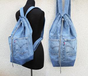 Выкройки рюкзака из старых джинсов