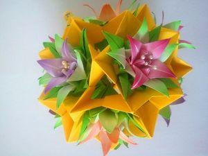cvetochnyy_shar_origami Схемы волшебного шара кусудама из бумаги: материалы, процесс сборки