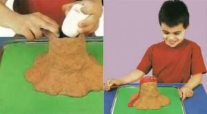 Как сделать вулкан из пластилина своими руками