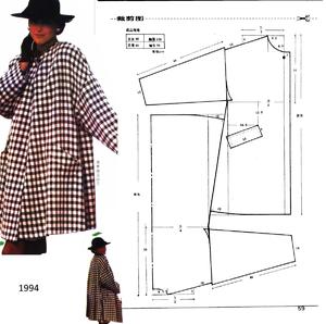 vykroyka_burda_platya_oversayz Выкройка пальто оверсайз: пошив изделия своими руками, вязаная модель спицами