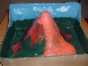 sdelat_vulkan_domashnih Макет вулкана своими руками из пластилина в домашних условиях