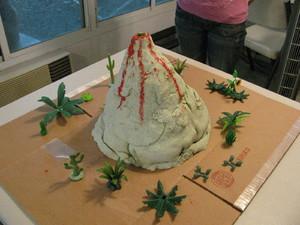 vuklan_svoimi_rukami Макет вулкана своими руками из пластилина в домашних условиях