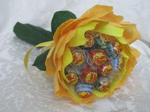 topiariy_konfet Топиарий из конфет. Сладкий топиарий: дерево, яблоко, букет и часы из конфет