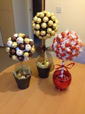 yabloko_konfet_svoimi_rukami Топиарий из конфет. Сладкий топиарий: дерево, яблоко, букет и часы из конфет