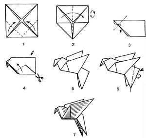 origami_ptica_schastya Оригами птица из бумаги для детей 7-8-9 лет пошагово с фото