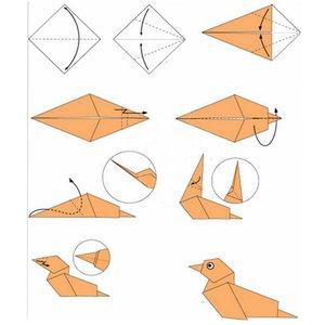 modulnoe_origami_pticy Оригами птица из бумаги для детей 7-8-9 лет пошагово с фото