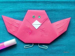 poshagovaya_instrukciya Оригами птица из бумаги для детей 7-8-9 лет пошагово с фото