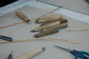 Необходимые инструменты для лозоплетения