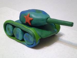 sdelat_tank_plastilina Как сделать танк т-34 из пластилина: танк тигр, ис 7 и ис5 поэтапно с фото