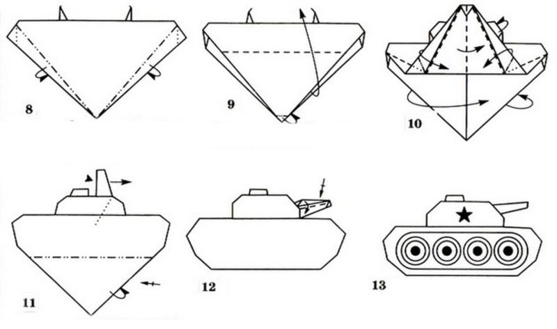 Схема танка из бумаги