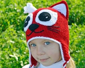 shapka-koshka_devochke Мастер-класс по вязанию шапки-кошки спицами и крючком: описание фасонов, создание основы и ушек