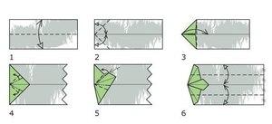 pervyy_etap_sborki Как сделать рубашку из денег, оригами рубашка из денег, как сделать рубашку из купюры и как сделать рубашку с галстуком