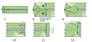 vtoroy_etap_sborki Как сделать рубашку из денег, оригами рубашка из денег, как сделать рубашку из купюры и как сделать рубашку с галстуком