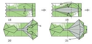 chetvertyy_etap_sborki Как сделать рубашку из денег, оригами рубашка из денег, как сделать рубашку из купюры и как сделать рубашку с галстуком