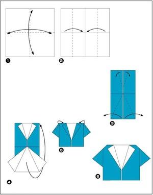 poshagovoe_sozdanie_zhenskoy Как сделать рубашку из денег, оригами рубашка из денег, как сделать рубашку из купюры и как сделать рубашку с галстуком