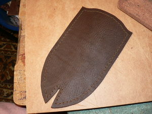 Пошив ножен для ножа