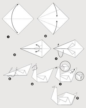 prostaya_shema_origami_detey Как сделать птичку своими руками: мастер-класс по поделкам из бумаги, простые схемы оригами