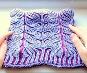 vyazanie_spicami_tehnike Модные вязаные женские шапки в технике бриошь: схемы вязания. Как связать спицами красивую шапку чалму, тюрбан, бини, азиатским колском: схемы, узоры