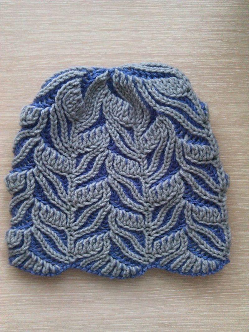 tehnika_vyazaniya_briosh Модные вязаные женские шапки в технике бриошь: схемы вязания. Как связать спицами красивую шапку чалму, тюрбан, бини, азиатским колском: схемы, узоры