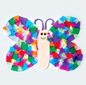 applikaciya_babochka_sredney Аппликация бабочка из бумаги для детей, из ткани и фетра
