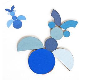 babochka_geometricheskih Аппликация бабочка из бумаги для детей, из ткани и фетра