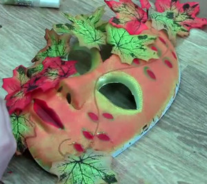 maska_pape_mashe Мастер класс маска папьемаше