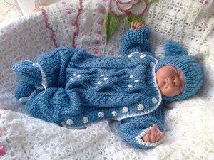 vyazanye_kostyumy_novorozhdennyh Вязаные костюмы для новорожденных со схемами и описанием: костюмчики для мальчиков и для девочек