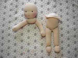 Как соединить детали вальдорфской куклы