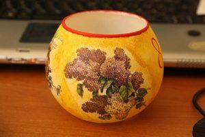 dekupazh_steklyannoy_vazy Декупаж стеклянной вазы: мастер-класс и пошаговая инструкция, как за декорировать сосуд своими руками