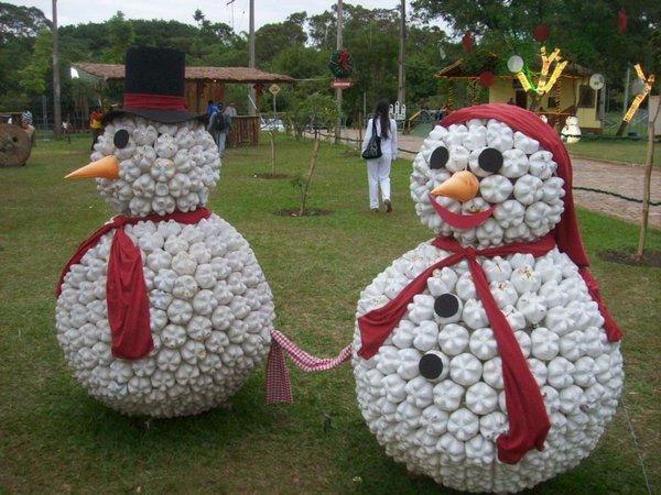 snegovik3 Снеговик своими руками на Новый год из подручных материалов