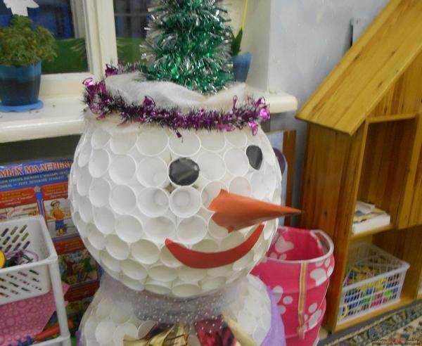 snegovik5 Снеговик своими руками на Новый год из подручных материалов