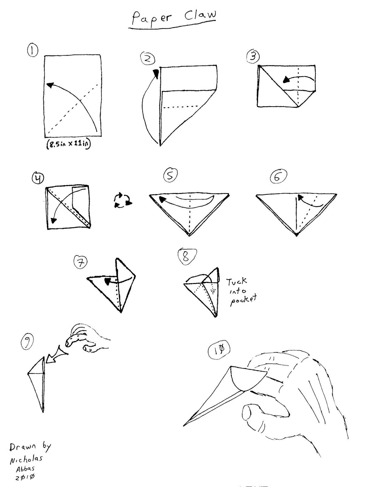 Как сделать из бумаги когти рыся фото 554