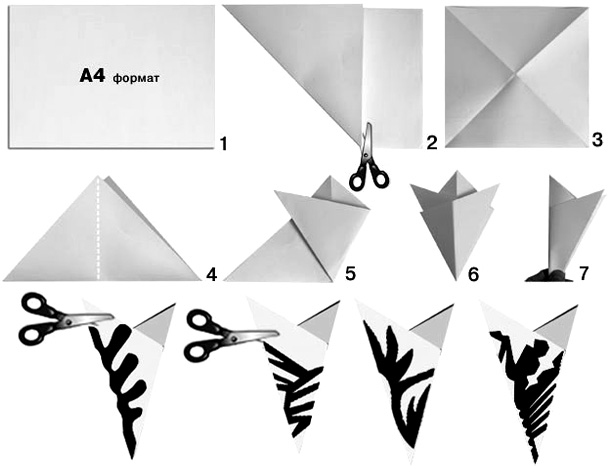 объемные фигуры из бумаги своими руками схемы шаблоны