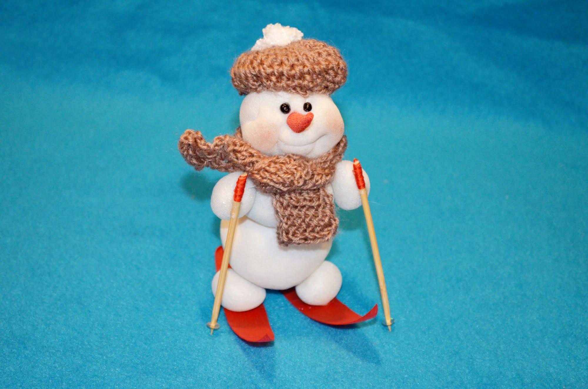 Поделки снеговика своими руками видео фото 537