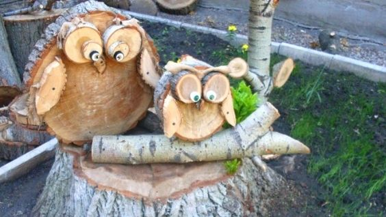 Поделки из спилов дерева своими руками – фото идеи