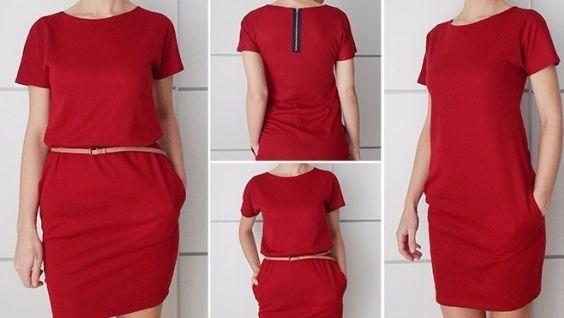 Как раскроить платье прямого покроя без выкройки