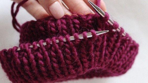 Двойная резинка на спицах - как вязать, инструкция, схема