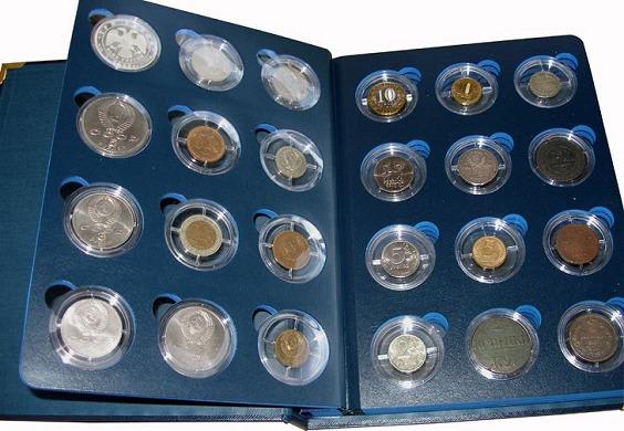 альбомы-планшеты из картона для хранения монет