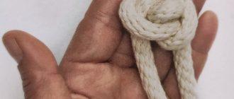Плетение узлов-пуговиц