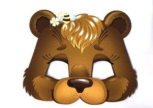 Голова медведя из картона