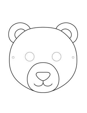"""Маска из фетра """"Медвежонок"""