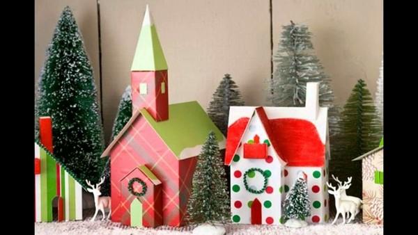 Как сделать дом для новогодней поделки